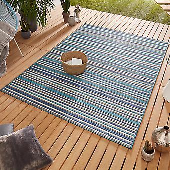 Ontwerp Outdoorteppich Web tapijt vlak geweven | Bamboe Ocean Blue