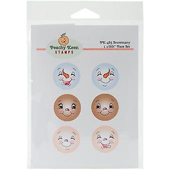 Peachy Keen Stamps Clear Face Assortment 6/Pkg-Snowmany