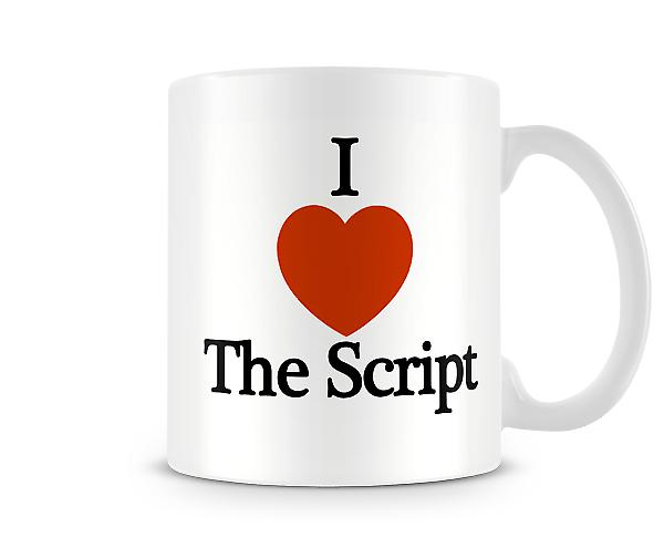 I Love The Script Printed Mug