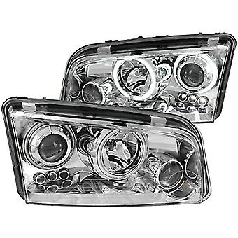 Anzo USA 121382 Chrome Halo Projector Headlight with Clear Lens for Dodge Charger