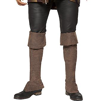 Roma RM-4650B Pirate Boot Covers with Zipper Detail