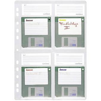 Durable Floppy disc folder punched pocket 4 floppy disks (3.5) Transparent 5 pc(s) 524319