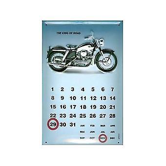 Rei da estrada Harley Davidson eterna aço parede Calendar 300 X 200 Mm
