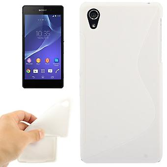 Mobile case TPU case for Sony Xperia Z2 white