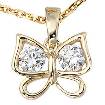 Anhänger Schmetterling gold 333 Zirkonia BUDDY Anhänger gold 333