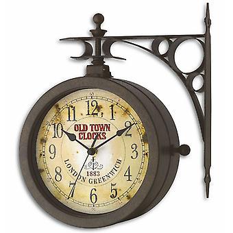 Wanduhr Nostalgieuhr Nostalgie Wanduhr Thermometer Nostalgie Antiklook drehbar