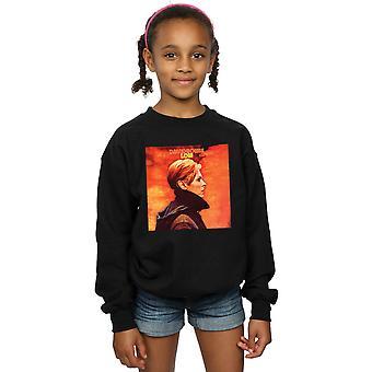 David Bowie Mädchen niedrig Album Cover Sweatshirt