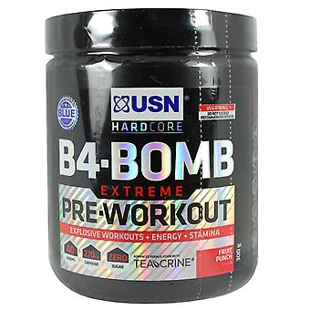 USN B4-Bomb Extreme Pre-Workout Fruit Punch Flavour 300g