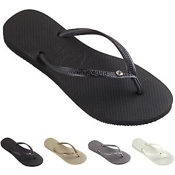 Womens Havaianas Slim Crystal Glamour Sw Summer Rubber Diamante Flip Flop
