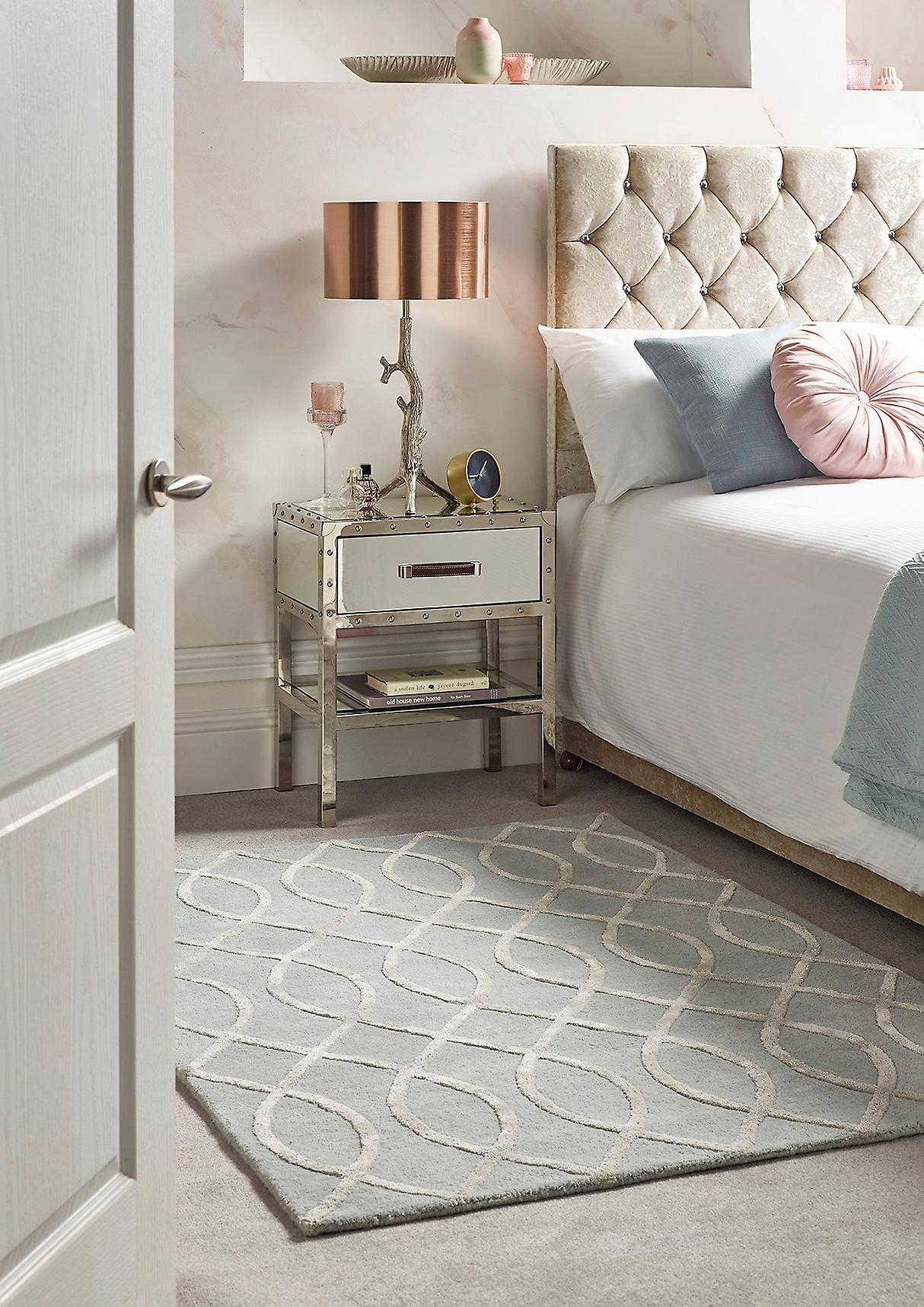Hotel Glamour Hotel argent argent Rectangle Rugs Plain Nearly Plain Rugs