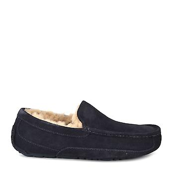 Ugg Mens' Ascot True Navy Suede Slipper