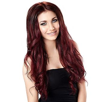 #99J Mahagoni rot - Clip-in Hair Extensions - vollen Kopf