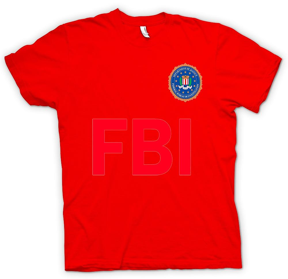 Hommes T-shirt - FBI USA - police