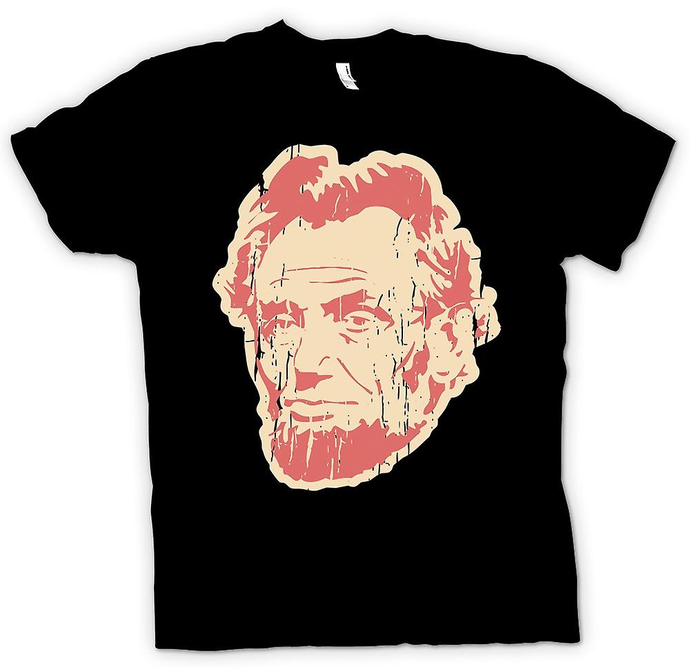 Mens T-shirt - Abraham Lincoln - Pop Art Face