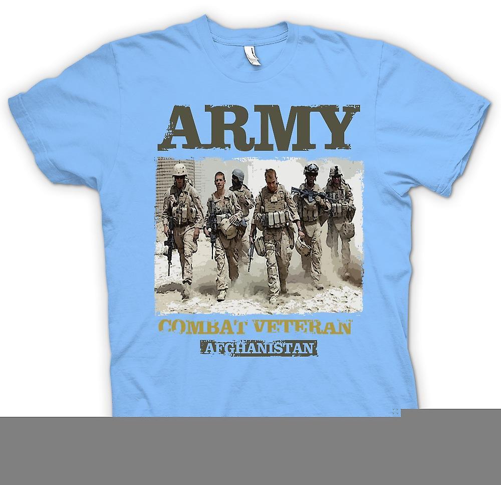 Heren T-shirt - leger bestrijding veteraan - Afghanistan