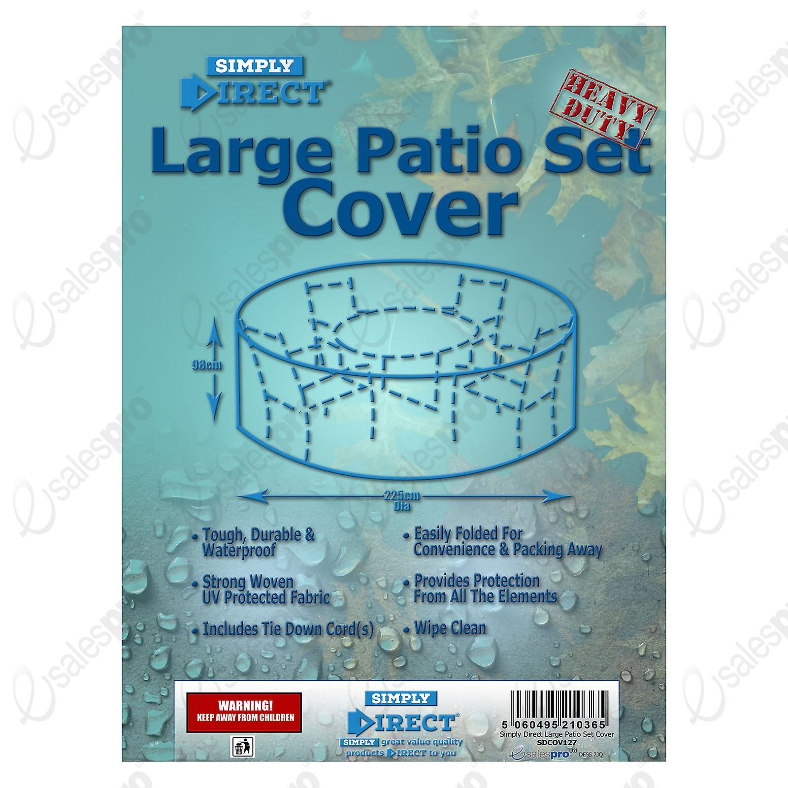Set CoverLarge Waterproof Patio Round Simply Furniture Protector Direct Weatherproof Kc3l1JFT