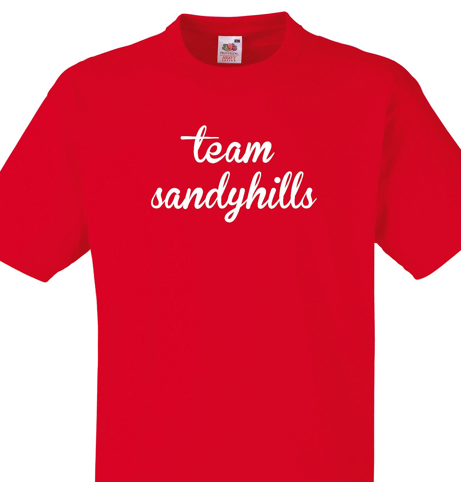 Team Sandyhills Red T shirt