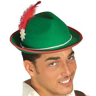 Mens groen Beierse hoed Fancy Dress accessoire