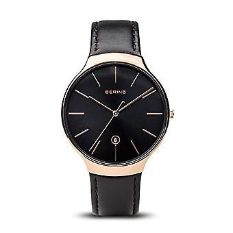 Bering Analog quartz men's watch with leather 13338-462