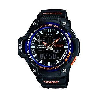Casio analog-digital Watch quartz men with black resin strap SGW-450H-2BER