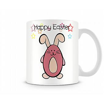 Decorative Writing Happy Easter Bunny Printed Text Mug