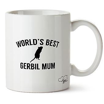 Hippowarehouse World's  Best Gerbil Mum Printed Mug Cup Ceramic 10oz