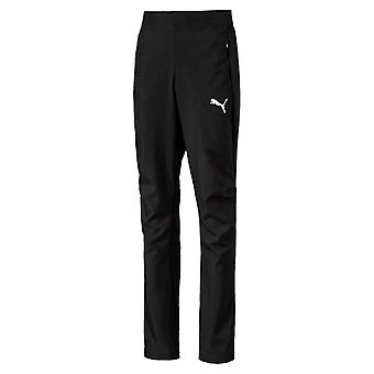PUMA League sideline woven Jr kids woven pant black and white