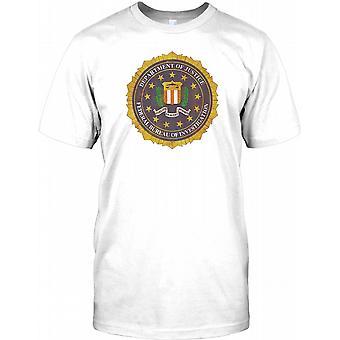 FBI - Distressed Gold Effect Badge Kids T Shirt
