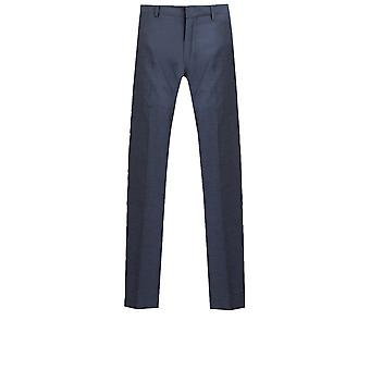 Dobell Mens Mississippi Blue Suit Trousers Slim Fit