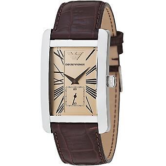 Emporio Armani Ar0155 - Ladies Classic Leather Strap Designer Watch