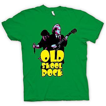 تي شيرت رجالي-كهربية--القديمة سكول-جيتار-روك موسيقى الروك-جديد