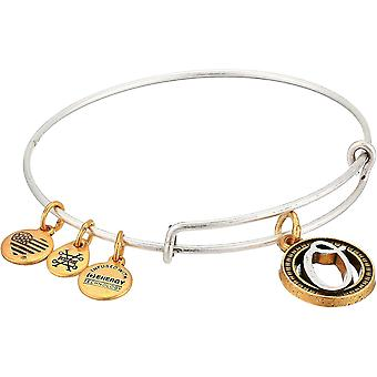 Alex and Ani Initial O Charm Bangle