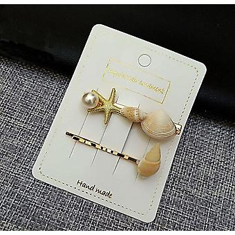 Set of 2 shell hair clips