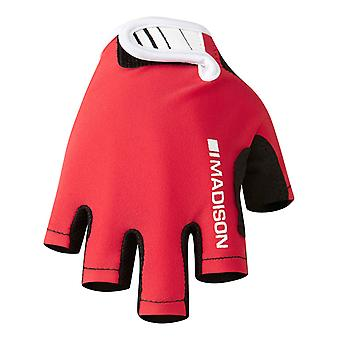 Madison Flame Red Tracker Kids Cycling Fingerless Gloves
