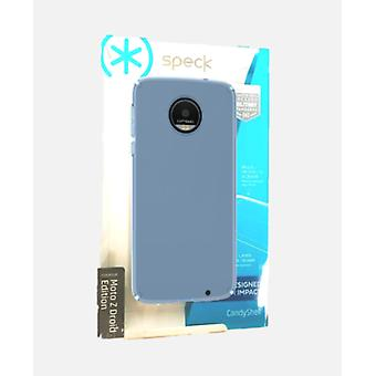 Speck CandyShell Case for Moto Z Droid - Clear Rainstorm Blue