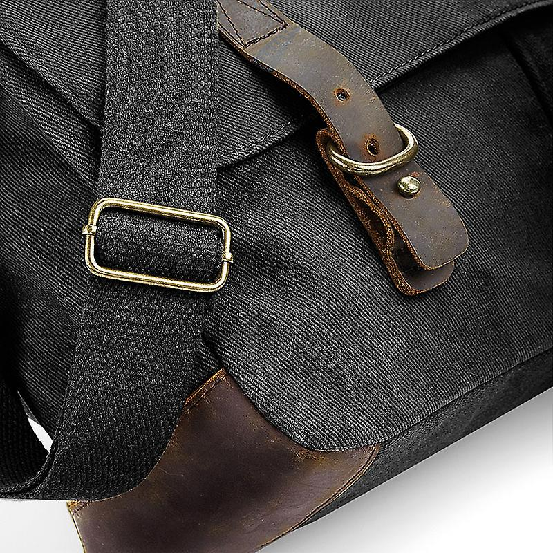 10th Royal Hussars Colour - Licensed British Army Embroidered Waxed Canvas Messenger Bag