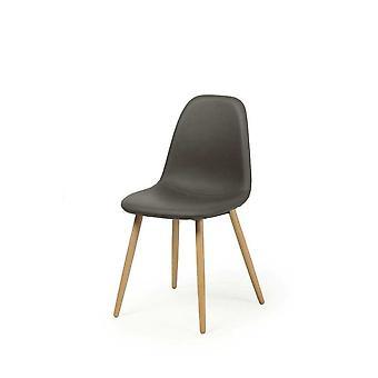 Dining room chair chair set of 4 Fynn dark grey real wood legs from beech 10789