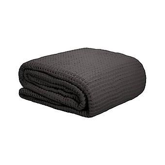 Bambury Waffle Weave Blanket Charcoal