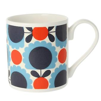 Orla Kiely Scallop Flower Spot Blue Red Mug