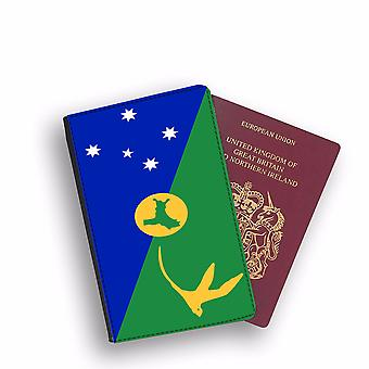 CHRISTMAS ISLAND Flag Passport Holder Style Case Cover Protective Wallet Flags design