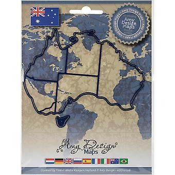 Find It Trading Amy Design Map Die-Australia ADD10008