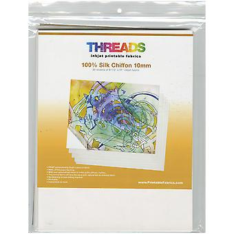 THREADS Inkjet Printable Fabric Sheets 8.5