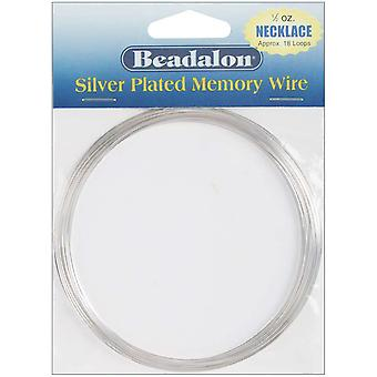 Silver Plated Memory Wire Necklace .5 Oz Pkg Approx 18 Loops 347B 150