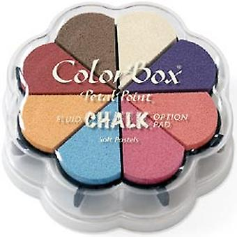 Colorbox Fluid Chalk Petal Point Option Inkpad 8 Colors Soft Pastels 715 31