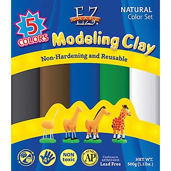 Ez Shape Modeling Clay Non Hardening 1 Pound Natural Colors 5 Pkg Ndc03