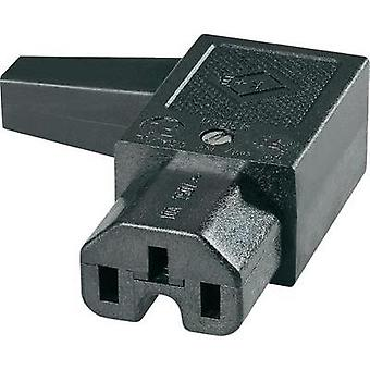 Hot wire connector C15 ATT.LOV.SERIES_POWERCONNECTORS 43R Socket, right angle Total number of pins: 2 + PE 10 A Black K