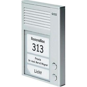 Door intercom Corded Complete kit Auerswald 90635 Semi-detached Silver