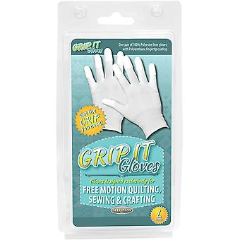 Grip Gloves For Free Motion Quilting-Large 48666
