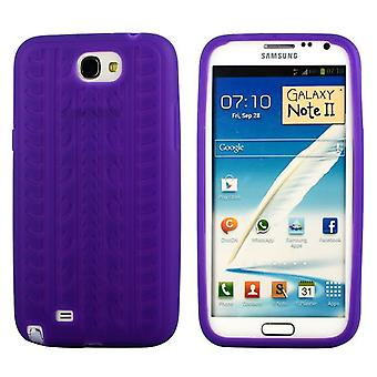 Cover with standard tire in silicone, for Samsung Galaxy Note 2 (purple)
