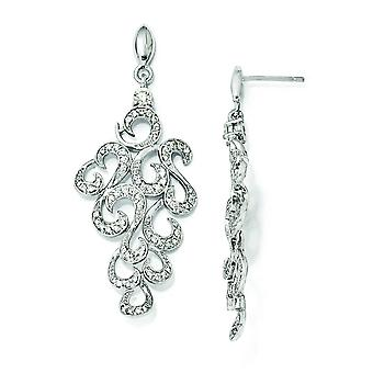 Sterling Silver CZ fantasia orecchini Post